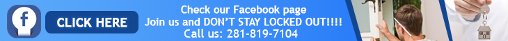 Join us on Facebook - Locksmith Atascocita